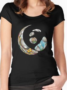 Zen Guiding Light  Women's Fitted Scoop T-Shirt