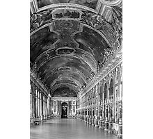 BW France palace of versailles mirrors galery 1970s Photographic Print
