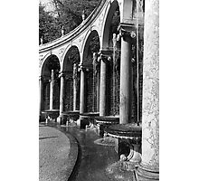 BW France palace of Versailles Colonnade Grove 1970s Photographic Print