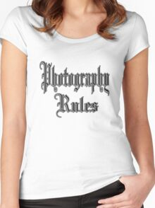photography rules Women's Fitted Scoop T-Shirt
