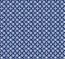 Christmas Winter Snow Flakes Blue by HolidaySwaggC