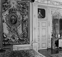 BW France Palace versailles Louis XV Bed chamber 1970s by blackwhitephoto