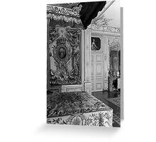 BW France Palace versailles Louis XV Bed chamber 1970s Greeting Card