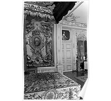 BW France Palace versailles Louis XV Bed chamber 1970s Poster