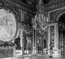 BW France palace of versailles The hall of war 1970s by blackwhitephoto