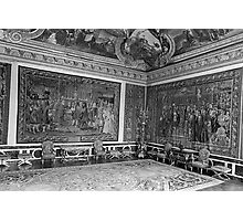 BW France palace of Versailles Apollo chambre 1970s Photographic Print