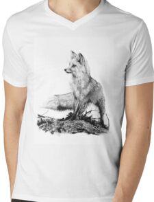 Fox Mens V-Neck T-Shirt