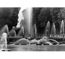 BW France palace of Versailles neptune fountains 1970s Photographic Print