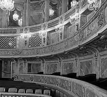 BW France palace Versailles opera house 1970s by blackwhitephoto