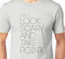 Look Scary and Take Point 2 Black Unisex T-Shirt
