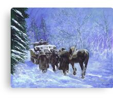 82nd Airborne Division advance winter 1944 Canvas Print
