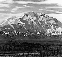 BW USA Alaska Beautiful Mt Mckinley 1970s by blackwhitephoto