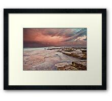 Chalky Beach Framed Print