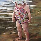 Little Girl in Floral Bonnet. by Debra Freeman
