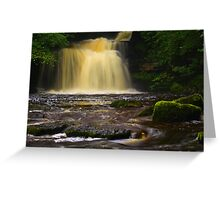 Cauldron Falls, 2 Walden Beck, North England  Greeting Card