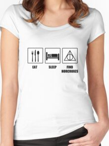 Eat Sleep Find Horcruxes Women's Fitted Scoop T-Shirt