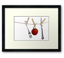 Lite Lunch Framed Print