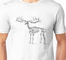 Skeleton Moose Unisex T-Shirt