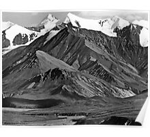 BW USA Alaska Mt Mckinley national park 1970s Poster