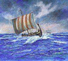 Viking Longship by Phil Willetts