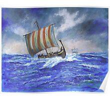 Viking Longship Poster