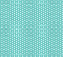 Christmas Snowflakes Winter Teal by HolidaySwaggC