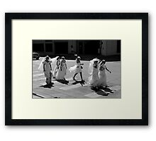 Bride Crossing Framed Print