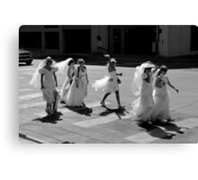 Bride Crossing Canvas Print
