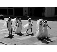 Bride Crossing Photographic Print