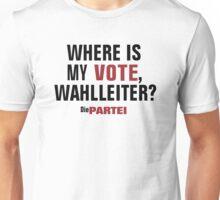 Die PARTEI - Where is my Vote Wahlleiter? Unisex T-Shirt