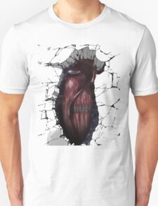 Colored Titan Out of Wall T-Shirt