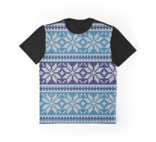 ugly christmas sweater blue and white Graphic T-Shirt