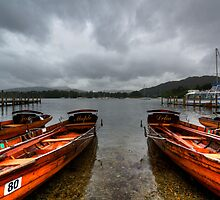 Boats in the rain by inkedsandra