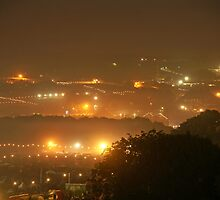 View from Pennards Hill, 3am  by Martin Harradine