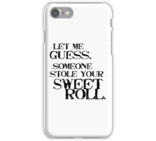Sweetroll 1 Black for low necked iPhone Case/Skin