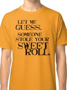 Sweetroll 1 Black for low necked Classic T-Shirt