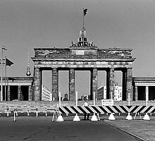 BW Germany Berlin Brandenburg Gate 1970s by blackwhitephoto