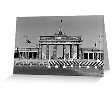 BW Germany Berlin Brandenburg Gate 1970s Greeting Card