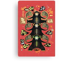Traffic light monkey  Canvas Print