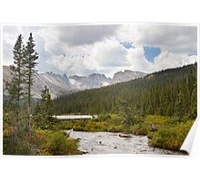 Indian Peaks Rainy Summer Day Poster