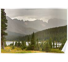 Colorado Rocky Mountain Summer Rainy View Poster