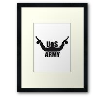 america US Army Army soldiers war weapons Framed Print