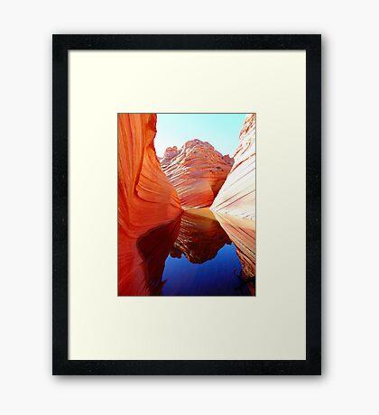 Red Rock Reflection Framed Print