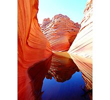Red Rock Reflection Photographic Print