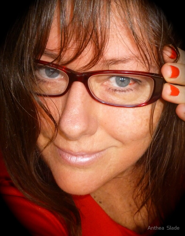 Red Reading Glasses by Anthea  Slade