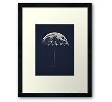 Space Umbrella Framed Print