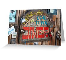 Coffee house in Madrid, New Mexico Greeting Card