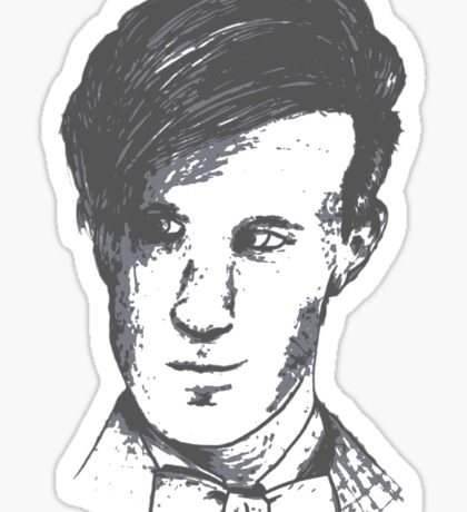 The 11th Doctor - Drawing  Sticker