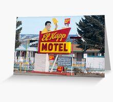 El Kapp motel in Raton, New Mexico Greeting Card