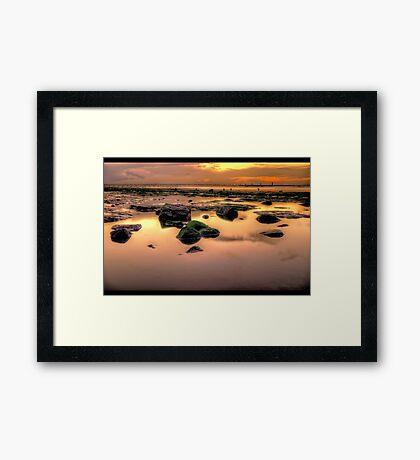 Redcar Beach at Low Tide Framed Print